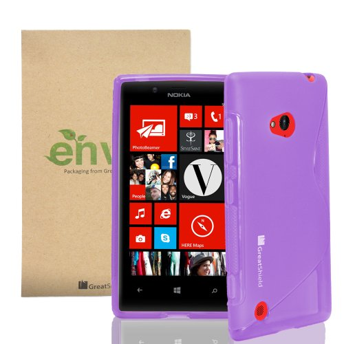 =>  GreatShield Guardian S Series Slim-Fit Case Flexible TPU Cover for Nokia Lumia 720 (Purple)