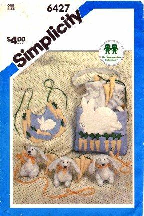 Simplicity 6427 Sewing Pattern Baby Bib Diaper Bag Crib Toy