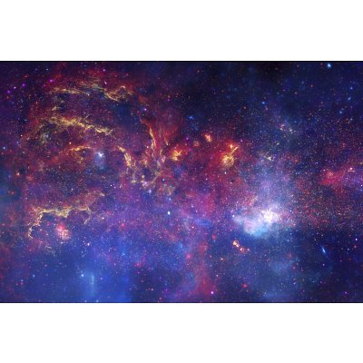 Nasa'S Great Observatories Examine The Galactic Center Region Space Photo Art Poster Print - 24X36 Custom Fit With Richandframous Black 36 Inch Poster Hangers