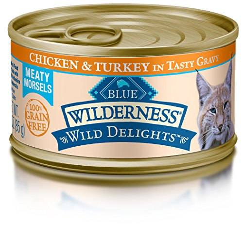 Blue Buffalo Wild Delights Chicken & Turkey Entree Wet Cat Food, 3 oz Can, Pack of 24 (Blue Buffalo Canned Cat compare prices)