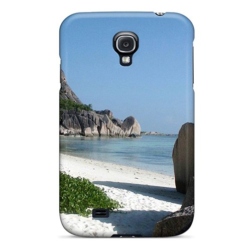 Rugged Skin Case Cover For Galaxy S4- Eco-Friendly Packaging(Gorgeous Beach) front-894255