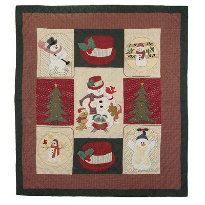 Patch Magic 65 By 85-Inch Jolly Snowmen Quilt, Twin front-442690
