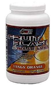 4Ever Fit Isolate Gainer, Fruit Blast, Tangy Orange, 2-Pound Package