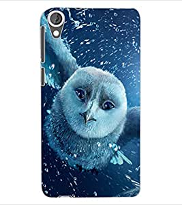ColourCraft Fantasical Owl Design Back Case Cover for HTC DESIRE 820