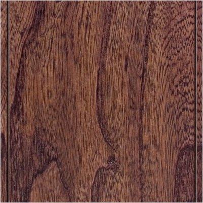 Hand Scraped Engineered Click-Lock Hardwood Flooring in Elm Walnut