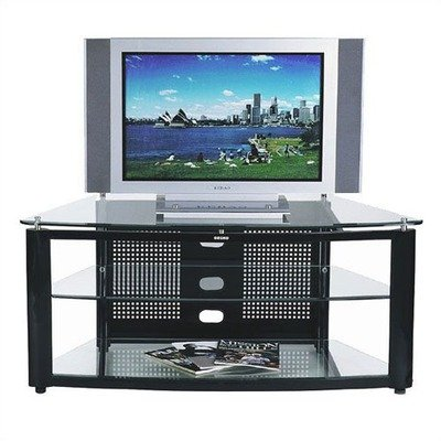 Cheap 50″ TV Stand in Glossy Black (GKR-413-BC)