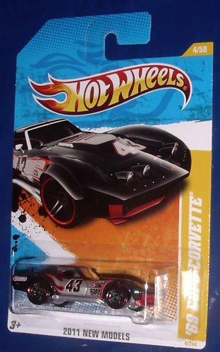 2011 Hot Wheels New Models '69 Copo Corvette - Black [Ships in a Box!] - 1