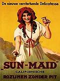 ADVERT SUN MAID RAISINS CALIFORNIAN NETHERLANDS VINTAGE POSTER ART PRINT 12x16 inch 30x40cm 826PY
