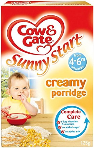 Cow & Gate Sunny Start Creamy Porridge 4Mth+ (125G)