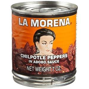 La Morena Chipotle Peppers In Adobo Sauce 7 Oz by La Morena