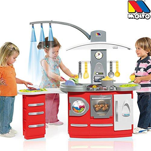 Kinderküche mit Theke, 3 Lampen, Ofen, Waschbecken