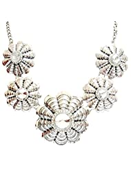 BID4DESIRE ALL METAL ANTIQUE SILVER FINISH NECKLACE FOR WOMEN