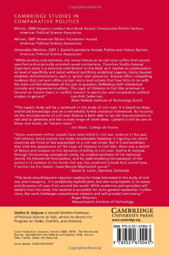 The Logic of Violence in Civil War Paperback (Cambridge Studies in Comparative Politics)