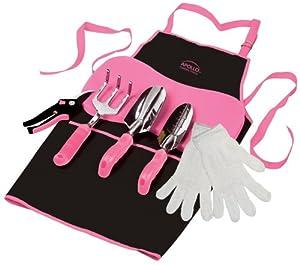 Apollo Precision Tools DT3790P 7-Piece Garden Kit, Pink