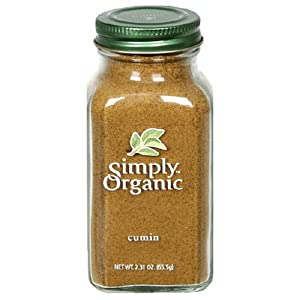 Simply Organic Cumin Seed Ground Certified Organic, 2.31-Ounce Containers (Pack of 3)