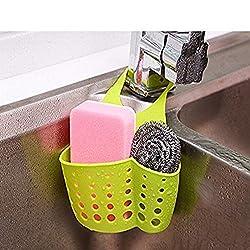 Evana Kitchen Sink Caddy Sponge Storage Hanging Basket Adjustable Snap Button Type Drain Rack Faucet Storage Bag Storage Baskets Tool (Assorted Color)