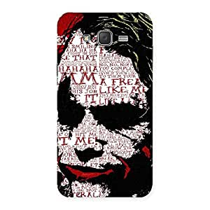 Psyco Typo Back Case Cover for Galaxy J7