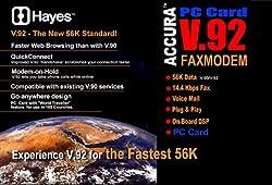 Hayes Accura 56k V92/v44 PCMCIAmodem Ctlr Based Pccard Dos Type3