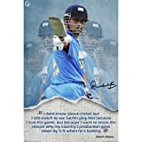 Sachin Tendulkar - Obama Quote With Digital Signature(30.48 Cm X 45.72 Cm)