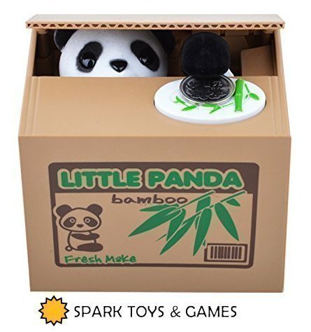 Very Cute! Stealing Kitty Cat Piggy Bank Steals Coins like Magic! SPARK TOYS /& GAMES