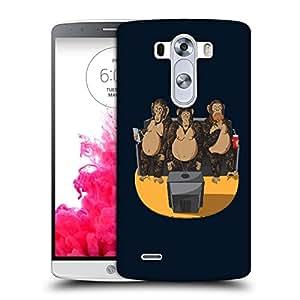 Snoogg Three Monkeys Designer Protective Back Case Cover For LG G3