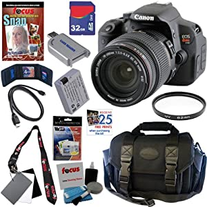 Canon EOS Rebel T4i 18.0 MP CMOS Digital SLR Camera with Sigma 18-200mm f/3.5-6.3 II DC OS HSM All-In-One Zoom Lens + 11pc Bundle 32GB Deluxe Accessory Kit