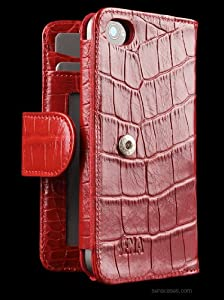 Amazon.com: Sena Walletbook Leather Case for iPhone 4 and ...