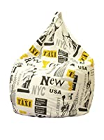 Home & Order Puff Grande New York Beige/Amarillo