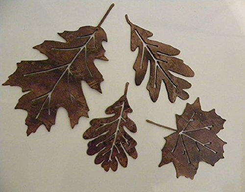 Leaf Accents Set Of  Metal Wall Art Decor  Toolfanatic Com