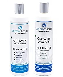 buy Dermachange Hair Growth Shampoo And Conditioner Set - With Vitamins - To Make Hair Grow Fast - Argon Oil And Biotin To Support Regrowth - Reduce Thinning And Hair Loss For Men And Woman