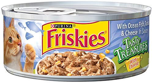 Friskies wet cat food tasty treasures with ocean fish for Friskies cat fishing