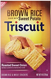 Triscuit Brown Rice Crackers, Roasted Sweet Onion, 9 Ounce
