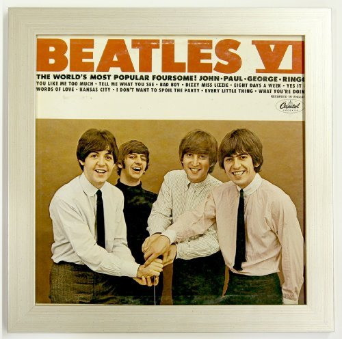Record Album Sleeve Display Frame Featuring Solid Wood Frame and Glass Front (Not Plastic) (Brushed Silver Frame) (Record Frame Display compare prices)