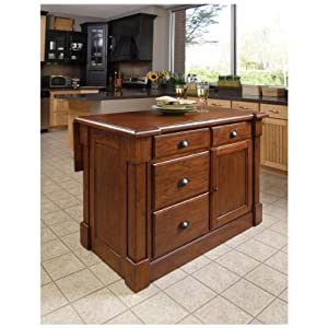 Home Styles 5520 94 Aspen Kitchen Island Rustic Cherry Finish Kitchen Dining