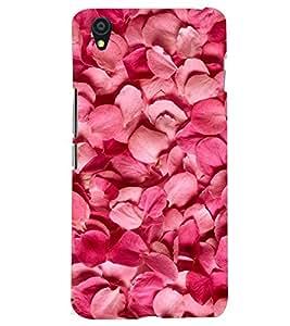 Printvisa Premium Back Cover Rose Petals Pattern Design For One Plus X::One + X