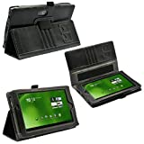 Poetic(TM) Slimbook PU Case for Acer Iconia Tab A100 Android Tablet Wi-Fi (Black)
