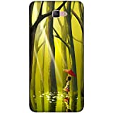 For Samsung Galaxy A3 (2017) Beautiful Little Girl ( Beautiful Little Girl, Little Girl, Tree, Jungle, Water, Red Umbrella, Umbrella ) Printed Designer Back Case Cover By FashionCops