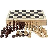 Aquamarine Games - Ajedrez, damas y backgammon en estuche (Compudid CP1070)