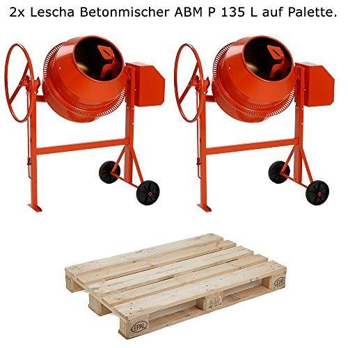 2x-LESCHA-Betonmischer-ABM-P-135-L-auf-Palette-NEU