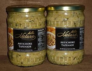 Della Natura Premium Artichoke Tapenade Spread BIG 1 lb Bottles (2 Pack)