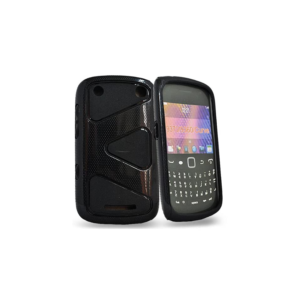 Mobile Palace   Black / white hard case cover pouch for blackberry 9360