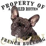 "French Bulldog BRINDLEWHITE Mousepad Dog Mouse Pad ""Property Of"""