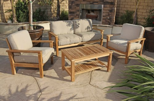 Patio Sets Clearance 4pc Gili Teak Outdoor Patio Seating Set Furniture By Az