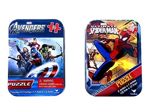Puzzle Tins Marvel Avengers and Spiderman