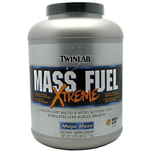 Twinlab Mega Mass Mass Fuel Xtreme - Vanilla Slam, 5.95 Lbs (2.7 Kg) (2 Pack) (6 Pack)