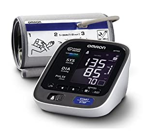 Omron BP785 10 Series Upper Arm Blood Pressure Monitor, Black/White, Pack of 2