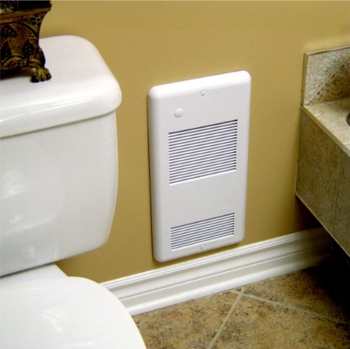 High Quality Bathroom Wall Heaters Pulsair 1501Tw White: Heats A True 150 Sq. Feet, Ultra-Quiet Electric Wall Heater For Any Small Room. Safe And Reliable 120 Volt 1500 Watts With A Built-In Easy To Use Thermostat. Grille With A Safe Rounded Corners