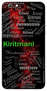 Kiritmani (Jewel In The Crown) Name & Sign Printed All over customize & Personalized!! Protective back cover for your Smart Phone : Samsung Galaxy S4mini / i9190