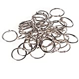 ZFE® Metal 30mm Outer Dia Loose Leaf Binder Ring for Scrapbooking Book Pack of 50Pcs