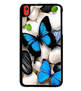 Fuson Premium 2D Back Case Cover Colourful Butterflies With Red Background Degined For HTC Desire 816::HTC Desire 816 G